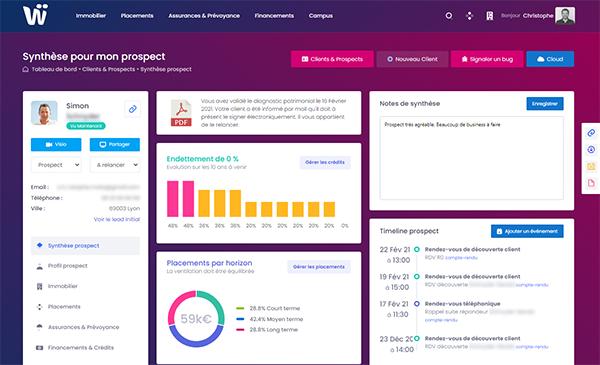 wizio plateforme 360° pour les clients des gestionnaires de patrimoine
